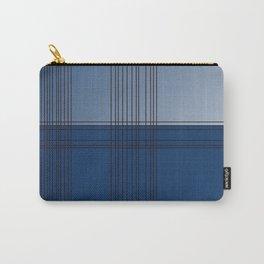 Design blocks, ethnic blue. BLUE BLOCKs Carry-All Pouch