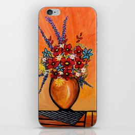 Flowers On Table iPhone Skin