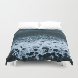 Iceland waves and shapes - Landscape Photography Duvet Cover