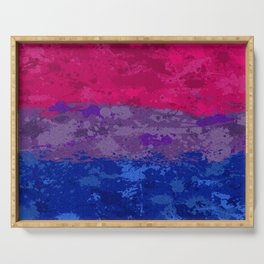 Bisexual Paint Splatter Flag Serving Tray