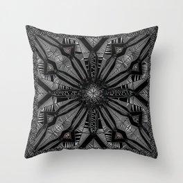 Licorice Lace Throw Pillow