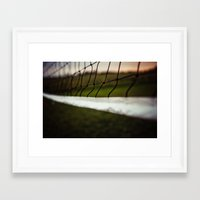 volleyball Framed Art Prints featuring Volleyball Net by Jo Bekah Photography