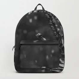 The Evergreen with Snow (Black and White) Backpack