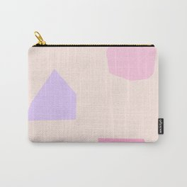 Minimal Art Abstract Modern Scandinavian Design Pink - Let's Appreciate Our Shapes no.3 Carry-All Pouch