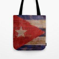 cuba Tote Bags featuring Cuba  by Jordygraph
