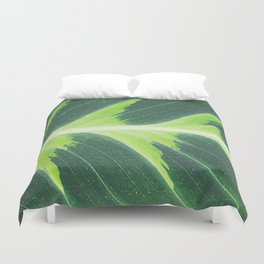 Leaf green Duvet Cover