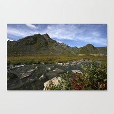 River's Edge in Alaska Canvas Print