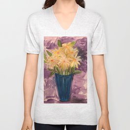 Everything is coming up Daisies Unisex V-Neck