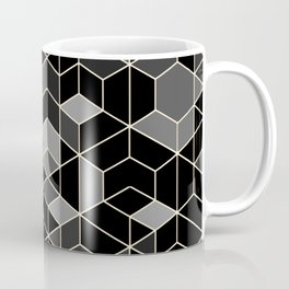 Black geometry / hexagon pattern Coffee Mug
