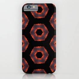 Fiery Red & Orange Circles iPhone Case