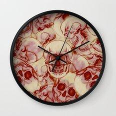 Sequential Skulls Wall Clock
