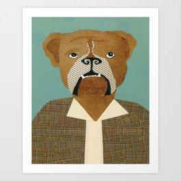 Mike The Bulldog Art Print