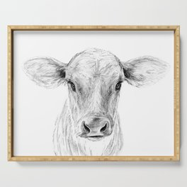 Moo ::  A Young Jersey Cow Serving Tray