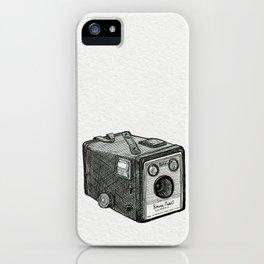 Kodak Box Brownie Camera Illustration iPhone Case