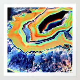 Crystalized Wonders Art Print
