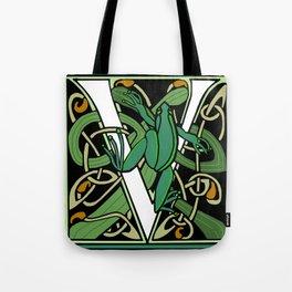 Celtic Nouveau Frog Letter V 2018 Tote Bag