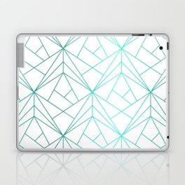 Geometric Turquoise Pattern Laptop & iPad Skin