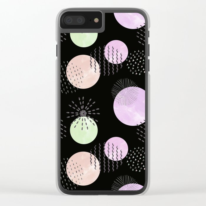 Abstraction 2 Clear iPhone Case