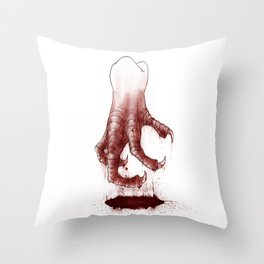 Tooth Claws Throw Pillow