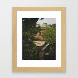 Kathmandu City Roof Tops - Architecture 06 Framed Art Print