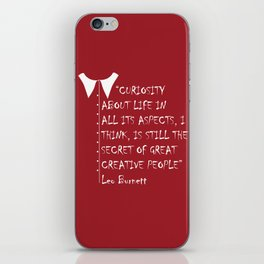 QUOTE-3 iPhone Skin