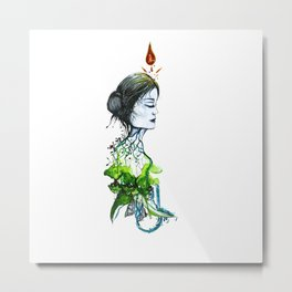 Nature Goddess Metal Print