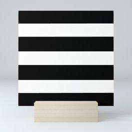 Mariniere marinière black and white Mini Art Print