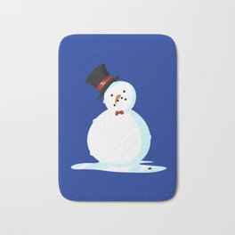 Sad Little Snowmen - winter pattern Christmas holiday Bath Mat