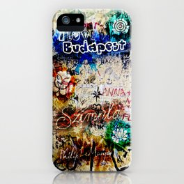Graffiti Szimpla – I love Budapest iPhone Case