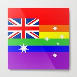 australia country gay flag homosexual Metal Print
