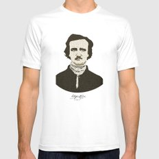 Edgar A. Poe MEDIUM White Mens Fitted Tee
