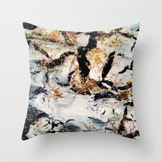 gray&gold  marble Throw Pillow