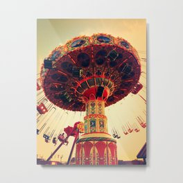 Swings go round and round Metal Print