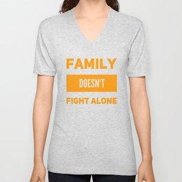 My Family Help Me Unisex V-Neck
