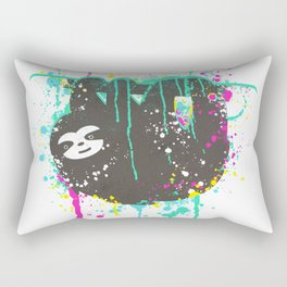 Spirit Animal - Super Sloth, Cute Sloth, Sloths, animal t shirt, animal print t shirt, wildlife tee Rectangular Pillow