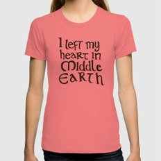 I Left My Heart in Middle Earth Pomegranate Womens Fitted Tee SMALL