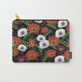 Orange and Violet Autumn pattern Carry-All Pouch