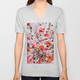Floral Expression 2a by Kathy Morton Stanion Unisex V-Neck
