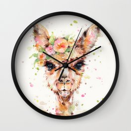 Little Llama Wall Clock