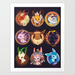 Eevee Art Print
