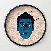 seinfeld Wall Clocks featuring Cosmo Kramer - Seinfeld by Kuki