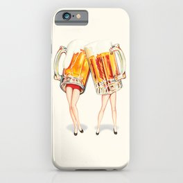 Cheers! Beer Pin-Ups iPhone Case