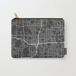 Orlando Map, USA - Gray Carry-All Pouch
