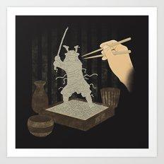 Soba Samurai Art Print