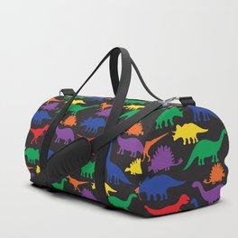 Dinosaurs - Black Duffle Bag
