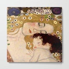"""Mother and Child"" by Gustav Klimt (1902) Metal Print"