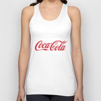 coca cola Tank Tops featuring Coca Cola by ZenthDesigns