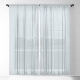 MOONMIST Light Blue Pastel solid color Sheer Curtain