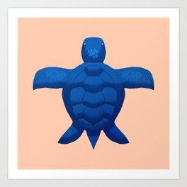 Blue Sea Turtle Art Print