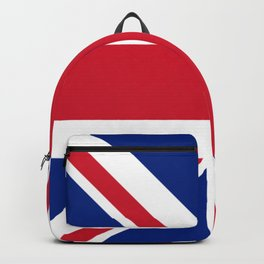 red white and blue trendy london fashion UK flag union jack Backpack